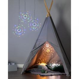 Závesná svietiaca LED dekorácia Best Season Hanging Firework Light Rainbow, 60 svetielok