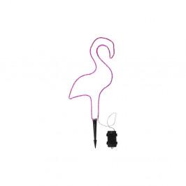 Ružové vonkajšie LED svietidlo v tvare plameniaka Best Season Tuby
