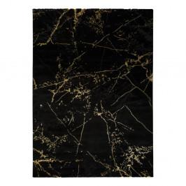 Čierny koberec Universal Gold Marble, 160 x 230 cm