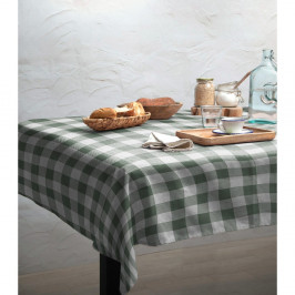 Obrus Linen Couture Mantel Green Vichy, 140 x 140 cm
