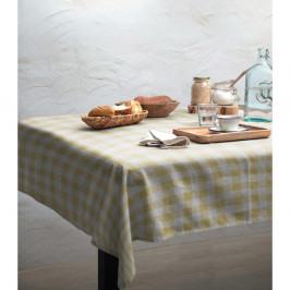 Obrus Linen Couture Yellow Vichy, 140 x 200 cm