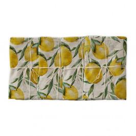 Sada 4 ks látkových obrúskov s prímesou ľanu Linen Couture Lemons, 43 x 43 cm