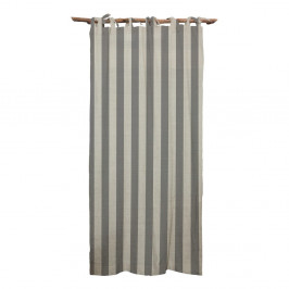 Sivý záves Linen Couture Cuture Cortina Hogar Grey Stripes