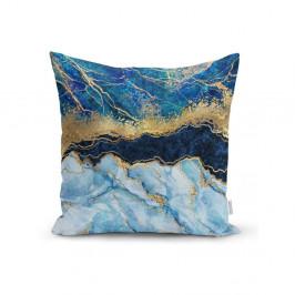 Obliečka na vankúš Minimalist Cushion Covers Marble With Blue, 45 x 45 cm