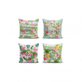 Sada 4 obliečok na vankúše Minimalist Cushion Covers Naturia, 45 x 45 cm