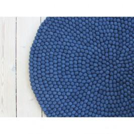 Modrý guľôčkový vlnený koberec Wooldot Ball rugs, ⌀ 90 cm