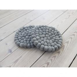 Oceľovosivá guľôčková podložka z vlny Wooldot Ball Coaster, ⌀ 20 cm