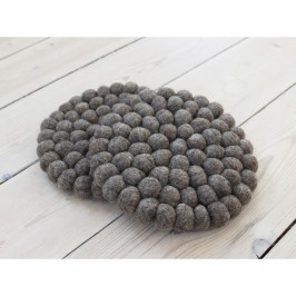 Orechovohnedá guľôčková podložka z vlny Wooldot Ball Coaster, ⌀ 20 cm