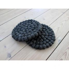 Antracitovosivá guľôčková podložka z vlny Wooldot Ball Coaster, ⌀ 20 cm