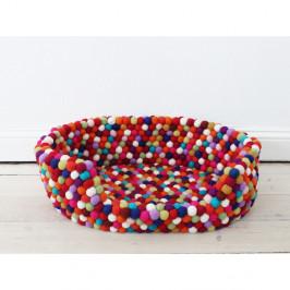 Tmavočervený guľôčkový vlnený pelech pre domáce zvieratá Wooldot Ball Pet Basket, 40 x 30 cm