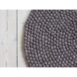 Orechovohnedý guľôčkový vlnený koberec Wooldot Ball rugs, ⌀ 140 cm