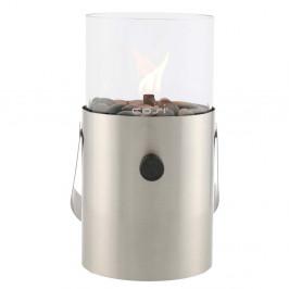 Matná strieborná plynová lampa Cosi Original, výška 30 cm