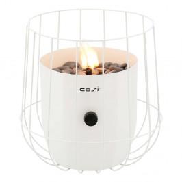 Biela plynová lampa Cosi Basket, výška 31 cm