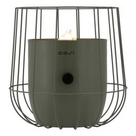 Olivovozelená plynová lampa Cosi Basket, výška 31 cm