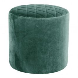 Zelený puf zo zamatu House Nordic Ejby, ø34cm
