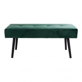 Tmavozelená čalúnená lavica so zamatovým poťahom House Nordic Skiby, 100 × 35 cm