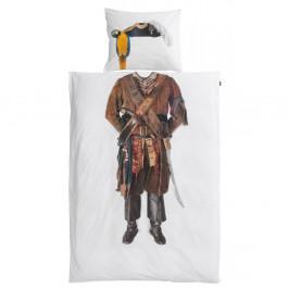 Bavlnené obliečky na jednolôžko Snurk Pirate, 140×200 cm