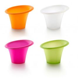 Sada 4 farebných silikónových formičiek na pečenie v mikrovlnnej rúre Lékué, ⌀ 11 cm