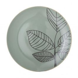 Zelený keramický plytký tanier Bloomingville Rio, ⌀ 22 cm