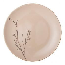 Ružový keramický plytký tanier Bloomingville Rio, ⌀ 22 cm