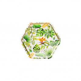 Sada 8 papierových tanierov GiviItalia Golden Jungle, ⌀ 23 cm