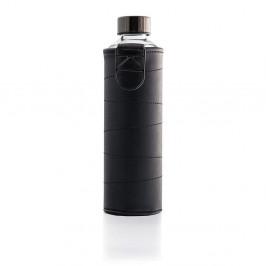 Grafitovosivá sklenená fľaša z borosilikátového skla s obalom z umelej kože Equa Mismatch, 750 ml