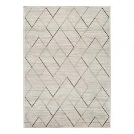Krémový koberec z viskózy Universal Belga, 140 x 200 cm