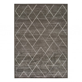 Sivý koberec z viskózy Universal Belga, 70 x 220 cm
