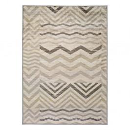 Sivý koberec z viskózy Universal Belga Zig Zag, 70 x 110 cm