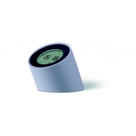 Sivý budík s LED displejom Gingko Edge