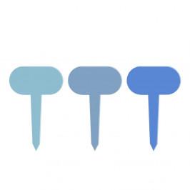 Sada 6 modrých tabuliek k rastlinám Esschert Design Gardener, dĺžka 11 cm
