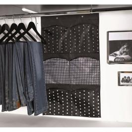 Čierny závesný organizér so 6 priehradkami Compactor Pockets
