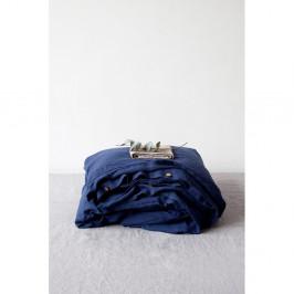 Námorníckymodrá ľanová obliečka na perinu Linen Tales, 140 x 200 cm