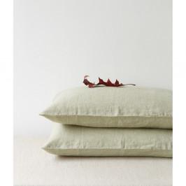 Svetlozelená ľanová obliečka na vankúš Linen Tales, 70 x 90 cm