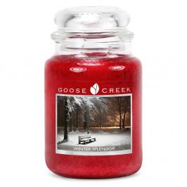 Vonná sviečka v sklenenej dóze Goose Creek Krásy Zimy, 150 hodín horenia