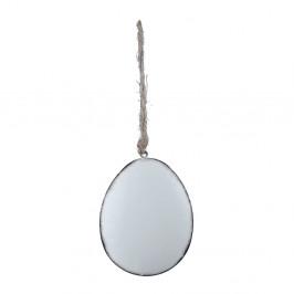 Biela závesná ozdoba v tvare vajíčka Ego Dekor