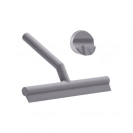 Sivá silikónová kúpeľňová stierka Zone Gull Grey
