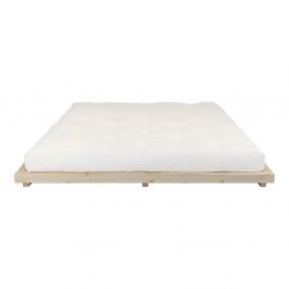 Dvojlôžková posteľ z borovicového dreva s matracom Karup Design Dock Double Latex Natural/Natural, 180 × 200 cm