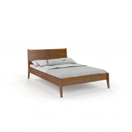 Dvojlôžková posteľ z bukového dreva v dubovom dekore Skandica Visby Radom, 160 x 200 cm