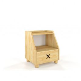 Nočný stolík z borovicového dreva so zásuvkou a policou Skandica Visby Ustka