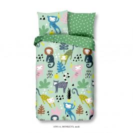 Detské bavlnené obliečky Good Morning Monkeys, 140x200 cm