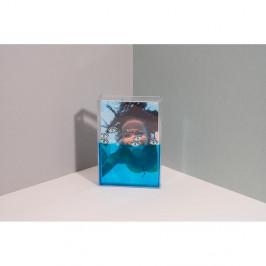 Modrý vodný fotorámik DOIY Eye, 11 x 16 cm