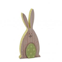 Drevená závesná dekorácia v tvare zajačka Ego Dekor, 9,5 x 20 cm