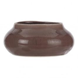 Hnedý kameninový kvetináč A Simple Mess Beate, ⌀ 23,5 cm