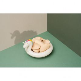 Bielá keramická plávajúca miska DOIY Unicorn, 18 x 16 cm