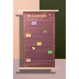 Plagát DOIY 50 Coctails to Taste, 35 x 64 cm
