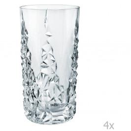 Sada 4 vysokých pohárov z krištáľového skla Nachtmann Sculpture Longdrink, 420 ml