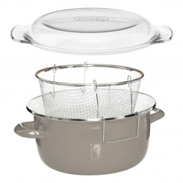 Sivý fritovací hrniec Premier Housewares Deep Fryer