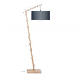 Stojacia lampa s tmavosivým tienidlom a konštrukciou z bambusu Good&Mojo Andes