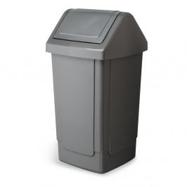 Velký sivý odpadkový kôš Addis Swing Bin, 33 x 33 x 66,5 cm
